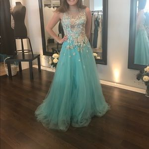 Beautiful prom pageant gown